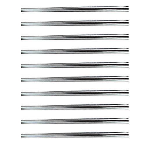 Laputa 10 Piezas 20 Cm Salida De Aire Acondicionado para Coche Tiras Decorativas En Forma De U Molduras Molduras Salida De Aire Tiras De Decoración Suministros De Decoración Plata