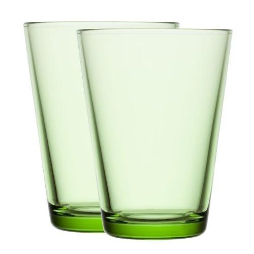 Preisvergleich Produktbild Iittala Kartio 1008614 Glass 40 cl,  Set of 2 Apple Green by Iittala
