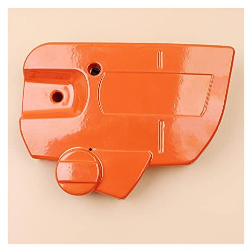 Ajuste perfecto Cubierta lateral del embrague del freno de cadena para H-USQVARNA 445 450 Piezas de repuesto de motosierra 544097902 544097901 Buena resistencia a la abrasión (Color : CHINA)