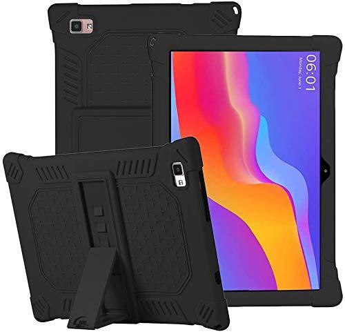 Funda de silicona para tablet Teclast P20, P20HD, M40, AOYODKG A39 de 10,1', con soporte, funda protectora ligera y resistente a los arañazos