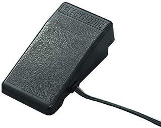 ジャノメ純正電子ミシン用フットコントローラー(黒色・丸3ピンプラグ)プラグサイズ縦26ミリ横12ミリ