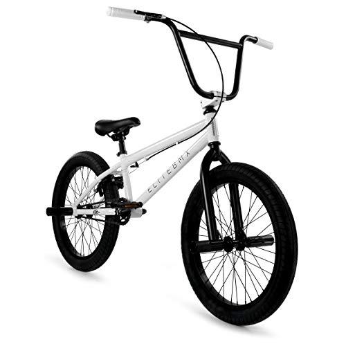 """Elite 20"""" & 16"""" BMX Bicycle The Stealth Freestyle Bike (20"""" White)"""
