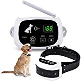 XKISS Wireless Electric Dog Fence,Pet Containment System,with IP65 Waterproof Dog Training Collar, Electric Shock Sound Correction, Adjustable Range Training Collar Receiver,Suitable for All Dogs