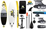 AQUALUST 10'6' SUP Board Stand Up Paddle Surf-Board BlueDrive S Power Fin Motor mit Akku gelb