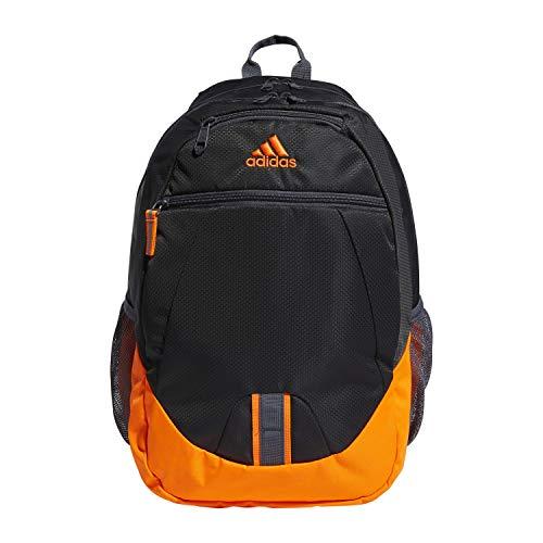 adidas Foundation Backpack, Carbon/Orange/Onix V5, One Size