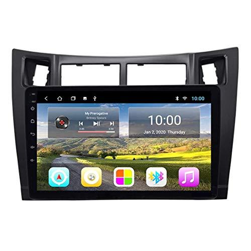 WY-CAR 9-Zoll-Autoradio-Stereo-Navigator-Kopfgerät Für Toyota Yaris 2008-2011, FM/RDS/Bluetooth/Mirror Link/Rückansicht Kamera/Lenkradsteuerungen,8 core-WiFi: 2+32G