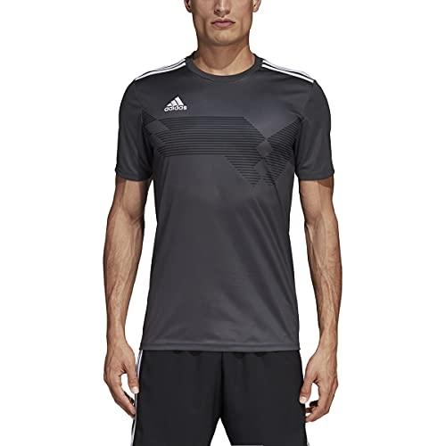 adidas Campeon 19 Jersey - Men's Soccer M Dark Solid Grey/White