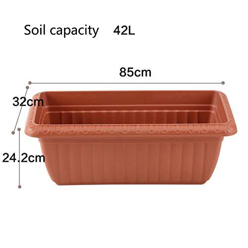 Épaissir Imitation céramique Plastique Grande Rectangle Pot de Fleur Plantation de Pots de Fleurs Balcon Légumes-H 42L