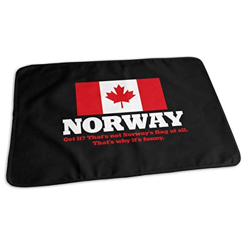 Noorse vlag Canada Vlag Baby Herbruikbare Changing Pad Cover Draagbare Travel Changing Mat 27.5x19.7 inch