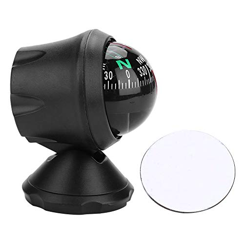 Keenso Boat Compass, High Precision Adjustable Compass Navigation Electronic Compass Boat Compass Dash Mount for Marine Boat Ship Car
