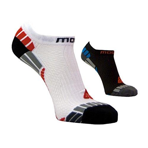 Moose INSIDER Sneaker Socken, Sportsocken, Funktionssocken, Silbersocken L (42-43) schwarz