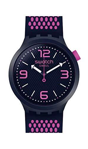 Swatch Herren Analog Quarz Uhr mit Silikon Armband SO27N103