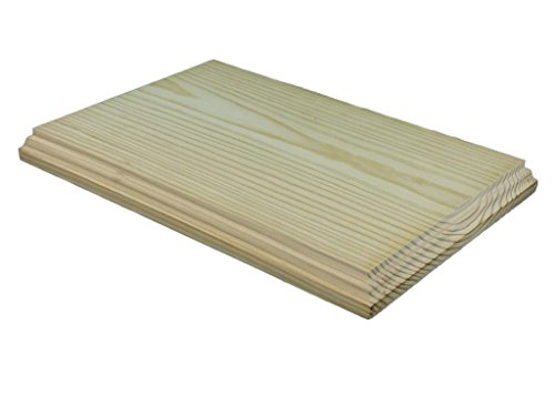 Peana madera rectangular. Diferentes medidas. En pino macizo, crudo. Se puede pintar. (31 * 21 cms)