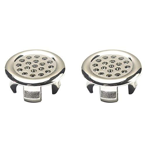 RAQ 2 stuks wastafel ronde ring overloop vervanging afdekking ordelijk chroom trim bad keramische wastafel overloop ring badkamer vervangt accessoires 2