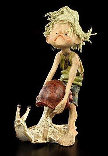 Pixie Kobold Figur - Nicht so schnell - einzeln   Fantasy-Figur, Handbemalt