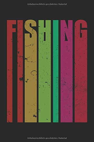 Angler Notizbuch: Blanko Notizheft mit farbigen Angler Cover |120 linierte Seiten | Softcover | ~ A5 Format | Angeln Zubehör für die Angeltasche