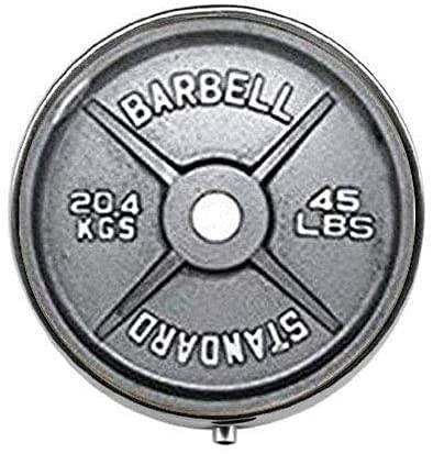 Barbell - Pastillero para mancuernas, caja de cristal