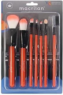 Kit Kp5-9A com 7 Pincéis Para Maquiagem - Laranja, Macrilan