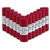 24 Pack of Fleece Throw Blankets Bulk Throw Blankets for Wedding Favors, Homeless Women, Men in Assorted Colors (Red)