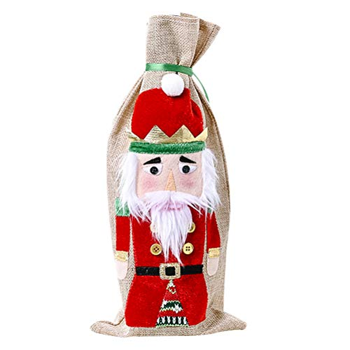 PTS Christmas Santa Bottle Decor Beautiful Bottle Sleeve Champagne Cover Christmas Party Supplies