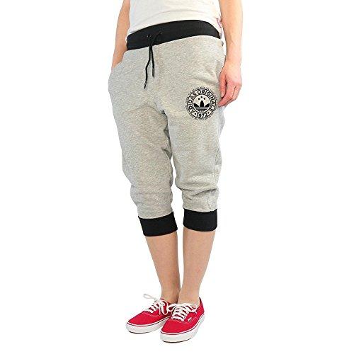 adidas Damen Originals 3/4-Trainingshose Dreiviertel-Sporthose, Mgreyh, 30