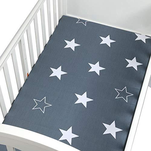 PENVEAT Babybett Spannbetttuch 100% Baumwolle Weiche Babybett Matratzenbezug Cartoon Neugeborenen Bettwäsche Für Kinderbett Größe 130 * 70 cm, CLS0034