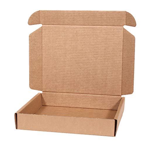 Kartox | 20 Pezzi Scatola di cartone Kraft per spedizione postale | Scatola di cartone automatica per spedizione o stoccaggio | 31X26X5.5 cm