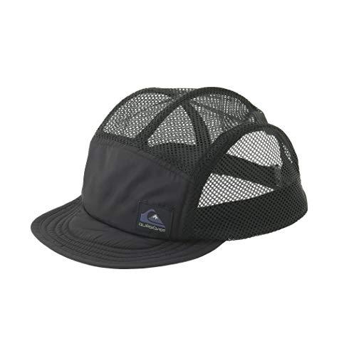 【QUIKSILVER クイックシルバー】 UPF50+ 日焼け防止ポケッタブル キャップ UV POCKETABLE MESH CAP Mens 【QSA201757 BLK F】