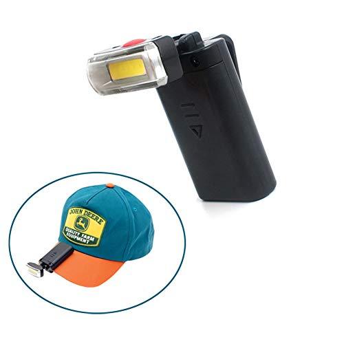 Fari A LED Proiettore, Universale Clip Lampada di Protezione della Luce della Luce della Lampada della Luce Rotante Protezione della Visiera del Cappello della Luce del Faro,Nero