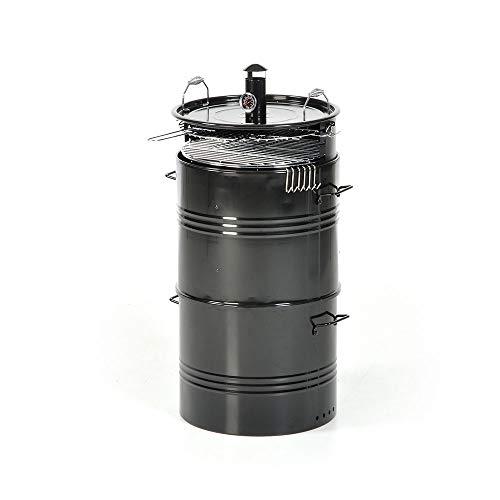 MASIDEF Q.BO - Barbecue Barrel A CARBONELLA con AFFUMICATOIO 3IN1