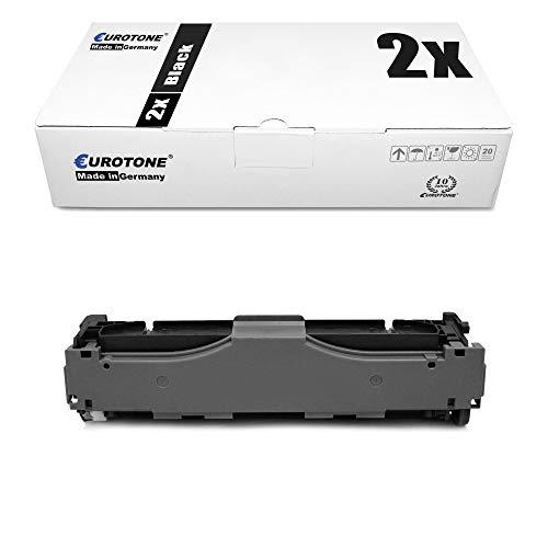 2X Eurotone kompatibler Toner für HP Color Laserjet CM2320NF CP2025X CP2025 CM2720 CM2320WI CM2323 CM2320EBB CP2026 CP2026N wie CC530A 304A Black