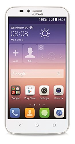 Huawei Y625 Smartphone (12,7 cm (5 Zoll) IPS-Display, 1,2 GHz-Quad-Core-Prozessor, 8 Megapixel-Kamera, 4 GB interner Speicher, Dual-SIM,  Android 4.4) weiß