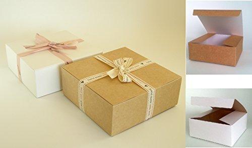 25 x zelfmontage-geschenkdoosjes (#D) Perfect voor geschenkpresentatie voor toiletartikelen, chocolade, cakes, koekjes, gedroogd voedsel, keramiek, snoep enz.