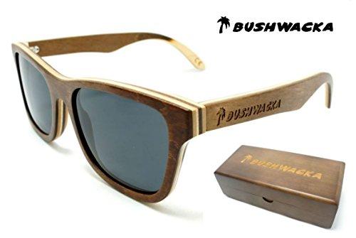 Nuovo Bushwacka Surf-Master polarizzato Handmade in legno laminato occhiali da sole
