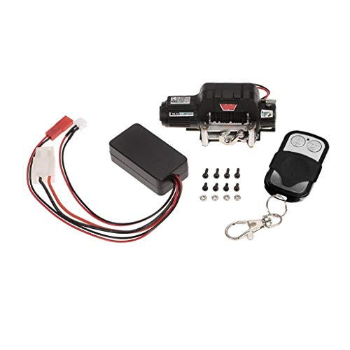 Tiranranrt Auto Model Controller-Empfänger für 1/10 Scx10 D91 Rc Crawler Winch Wireless Remote