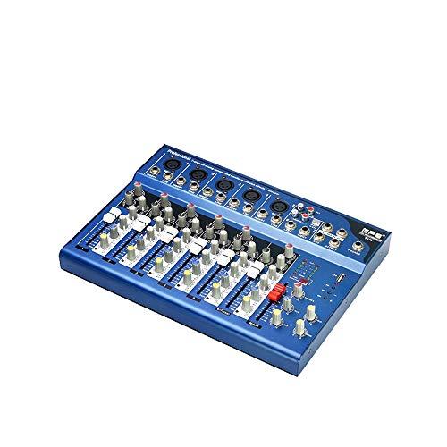 Ronshin Electronics & Accessories Mini-mixer, draagbaar, DJ, Sound-Mixing, MP3-console, 7 kanalen, karaoke-versterker, voor karaoke, hotels, match party
