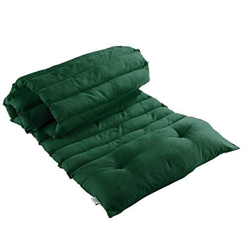 Douceur d'Intérieur Sun Lounger 60 x 180 cm Cotton Plain Green
