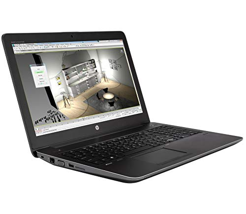 HP ZBook 15 G3 15,6 Zoll 1920x1080 Full HD Intel Quad Core i7 512GB SSD Festplatte 32GB Speicher Windows 10 Pro MAR Webcam Nvidia Quadro M2000M Notebook (Zertifiziert und Generalüberholt)