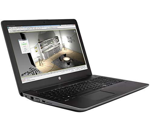 HP ZBook 15 G3 15,6 Zoll 1920x1080 Full HD Intel Quad Core i7 512GB SSD Festplatte 32GB Speicher Windows 10 Pro MAR Webcam Nvidia Quadro M2000M Notebook (Zertifiziert und Generalüberholt)