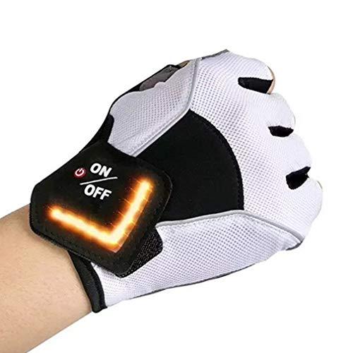 Mitad guante inteligente LED de señal de giro luz de advertencia guantes...