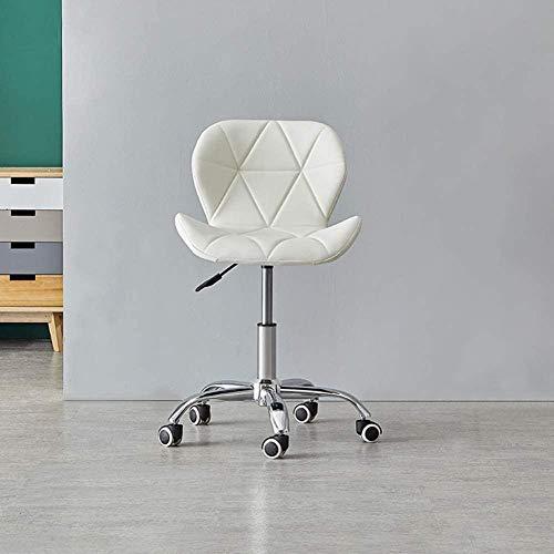 LHYLHY Muebles de Oficina Silla giratoria de 360 Grados con Ruedas Silla de computadora Ajustable para Escritorio Silla de Cuero sintético Silla para Juegos (Gris 1Pieza)
