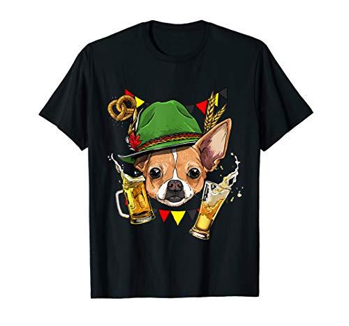 Chihuahua Oktoberfest Dog Lederhosen Gift German Beer Fest T-Shirt