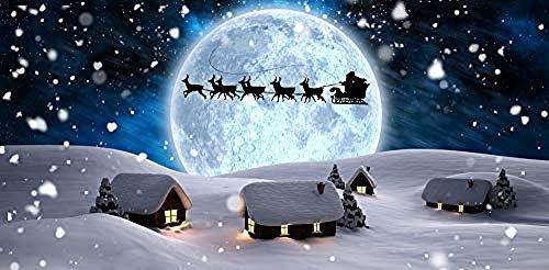Houten puzzel 1500 stukjes Volwassen klassieke 3D-puzzel Maanlicht Kerstman Slee Diy Moderne kunst Woondecoratie Uniek cadeau-87X58Cm