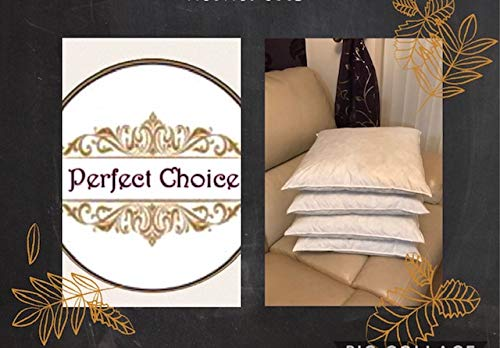 Duck feather (17 x 17 inches) pack of 4 Cushion Inner Pads (white/cream)