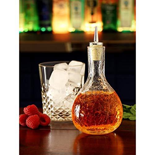 Cocktail DashBottle285ml. - Craquelé Glas mit verchromten Ausgiesser 4000948000083