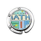 Faltbare Handtasche Kleiderbügel Geldbörse Haken, Mathematik Mathematik Bunte Doodle Mathematische Formeln Zahlen und Symbol