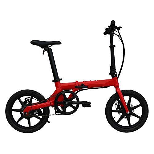 GJJSZ Bicicleta eléctrica Plegable Motor de Ruedas de 16