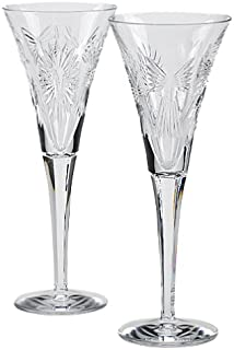 Waterford Millennium Universal Wishes Toasting Flute Pair