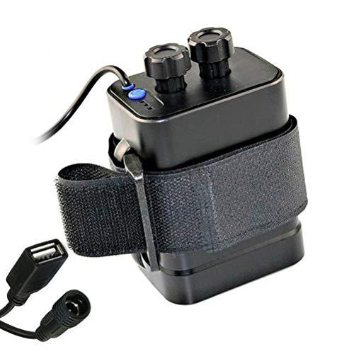 Kampre 8,4 V-accu met DC- en USB-interface voor fietskoplampen, mobiele telefoon voor oplaadbare Li-ion-accu 2/4/6 x 18650