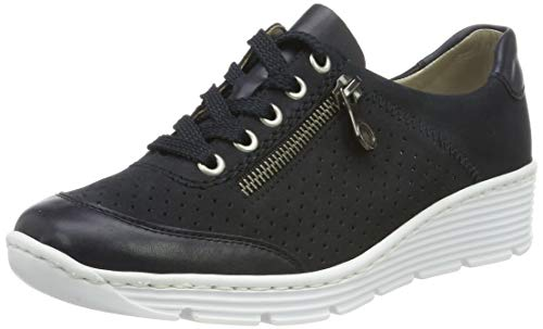 Rieker Damen 58725-14 Sneaker, Blau (Navy/Pazifik 14), 41 EU